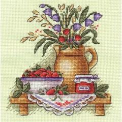 Набор для вышивания Panna Н-1349 Клубничное варенье