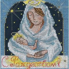 Набор для вышивания Panna ОТ-1355 Праздничные миниатюры. С Рождеством