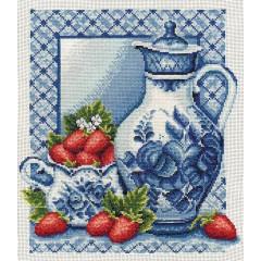Набор для вышивания Panna ГФ-0270 Клубника со сливками