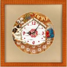 Набор для вышивания Panna Ч-1393 Часы. Домовенок Поварешкин