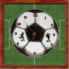 Набор для вышивания Panna Ч-1394 Часы. Футбольный мяч