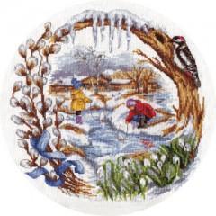 Набор для вышивания Panna Д-1236 Весенний ручеек