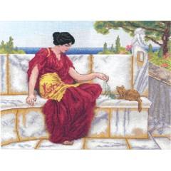 Набор для вышивания Panna ВХ-1426 Играющая с котенком