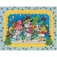 Набор для вышивания Panna С-1438 Веселые снеговики