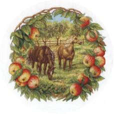 Набор для вышивания Panna Ж-1453 Кони в яблоках