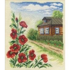 Набор для вышивания Panna ПС-0383 Цветы у дома