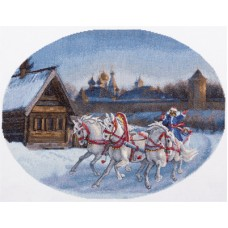Набор для вышивания Panna С-1530 Три белых коня