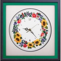 Набор для вышивания Panna Ч-1525 Цветочные часы