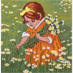 Набор для вышивания Panna Д-1546 Девочка в ромашках