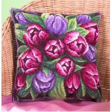 Набор для вышивания Panna ПД-1548 Подушка с тюльпанами   (Подушка)