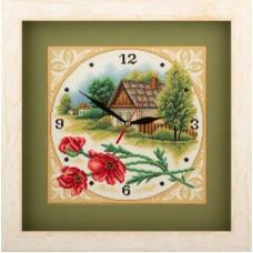 Набор для вышивания Panna Ч-1563 Часы. Домик