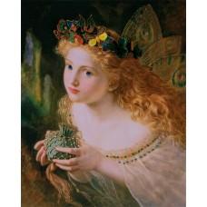 Набор для вышивания Panna ЖК-2046 Фея с бабочками