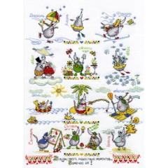 Набор для вышивания Panna ВК-0605 Календарь радости