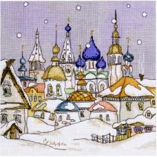 Набор для вышивания Panna АС-0623 Снегопад в городе