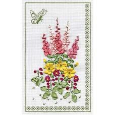 Набор для вышивания Panna Ц-0645 Панно с бабочкой