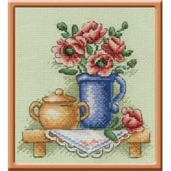 Набор для вышивания Panna Н-0513 Цветы в кувшине