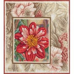 Набор для вышивания Panna Ц-0518 Красный георгин