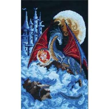 Набор для вышивания Panna Ф-0580 Дракон голубой планеты