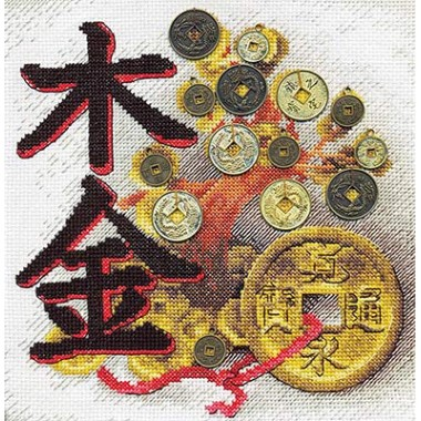 Набор для вышивания Panna И-0584 Денежное дерево