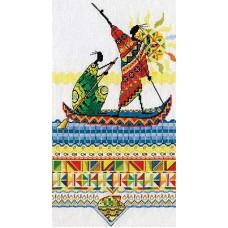 Набор для вышивания Panna НМ-0738 Африка.Масаи. Рыбаки
