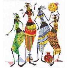 Набор для вышивания Panna НМ-0739 Африка. Африканочки-подружки