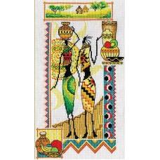 Набор для вышивания Panna НМ-0740 Африка.Женщины и керамика