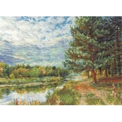 Набор для вышивания Panna ПС-0896 Сосна на берегу реки
