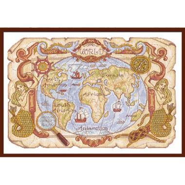 Набор для вышивания Panna МО-0986 Старинная карта
