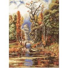 Набор для вышивания Panna ПС-0994 Осенью в парке