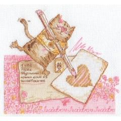Набор для вышивания Panna ВК-1035 Письмо милой кошечке