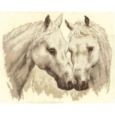 Набор для вышивания Panna Ж-1066 Пара белых лошадей