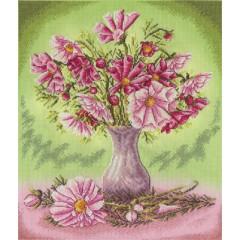 Набор для вышивания Panna Ц-1190 Розовые космеи