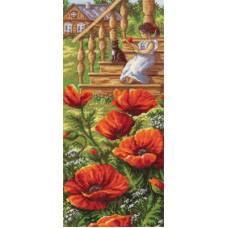 Набор для вышивания Panna ПС-1267 Маки у крыльца