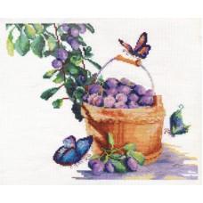 Набор для вышивания Panna Н-1200 Сливы с бабочками