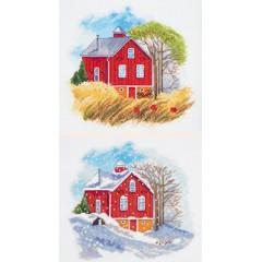 Набор для вышивания Panna ДЕ-7002 Времена года: Осень, Зима