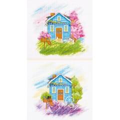 Набор для вышивания Panna ДЕ-7003 Времена года: Весна, Лето