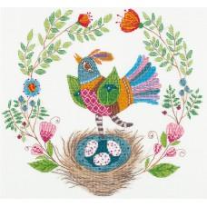 Набор для вышивания Panna ПТ-1953 Певчая птичка