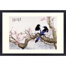 """Набор для вышивания крестом XIU CRAFTS 2800101 """"Сороки на сливовом дереве"""""""