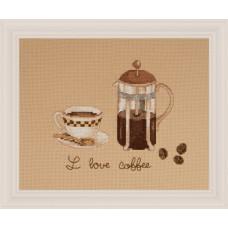 """Набор для вышивания крестом XIU CRAFTS 2801404 """"Любитель кофе"""""""