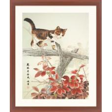 """Набор для вышивания крестом XIU CRAFTS 2801602 """"Котик на ветке"""""""