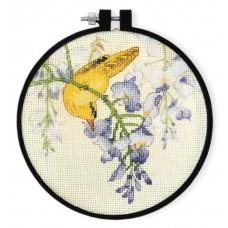 """Набор для вышивания крестом XIU CRAFTS 2801901 """"Желтая птица и фиолетовый цветок"""""""